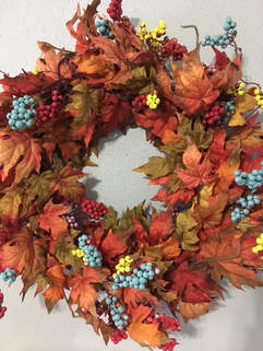 Orange Turquoise Fall Decor